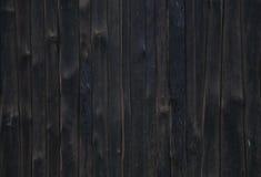 Donkere houten omheiningstextuur Stock Afbeelding