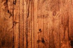 Donkere houten textuur Stock Foto's