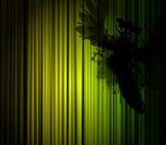 Donkere illustratie met vogel. Stock Afbeeldingen