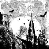 Donkere kathedraal vector illustratie