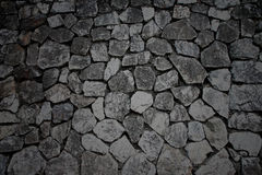 Donkere kleur van de textuur van de steenmuur Stock Foto's