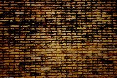 Donkere kleur van oude bakstenen muur Stock Foto