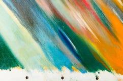 Donkere kleuren op het canvas Royalty-vrije Stock Fotografie