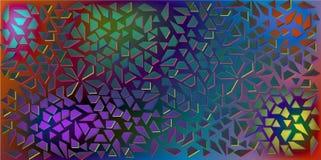 Donkere Kleurenvector van kleine zwarte driehoeken op kleurrijke achtergrond Illustratie van abstracte textuur van driehoeken Pat Royalty-vrije Stock Foto