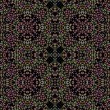Donkere kleurrijke caleidoscoop naadloze textuur stock illustratie