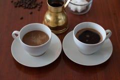 Donkere koffie Stock Fotografie