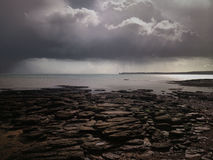 Donkere kust stock foto