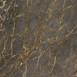 Donkere lei, gouden barsten, marmeren textuur, donker brecciëmineraal royalty-vrije stock afbeelding