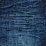 Donkere marineblauwe jeanstextuur Royalty-vrije Stock Foto's