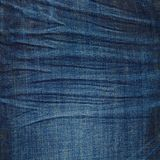 Donkere marineblauwe jeanstextuur Stock Fotografie
