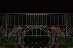 Donkere micro-elektronicachip Stock Afbeeldingen