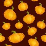 Donkere naadloze achtergrond met Pompoenen voor Thanksgiving day Vector Illustratie