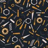 Donkere naadloze patroonhulpmiddelen Stock Afbeelding