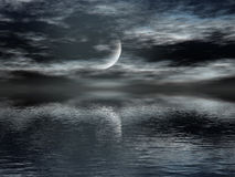Donkere Nacht Royalty-vrije Stock Afbeeldingen