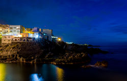 Donkere nacht Puerto DE Santiago Royalty-vrije Stock Afbeeldingen