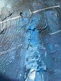 Donkere nacht van indigo diepe kosmos Donkerblauwe achtergrond met natuurlijke indigo het schilderen texturen De verbazende night Stock Fotografie