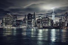 Donkere nachtstijgingen Stock Fotografie