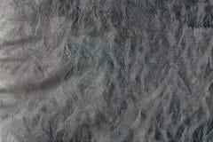 Donkere Natuurlijke bruine de close-upachtergrond van de leertextuur Royalty-vrije Stock Foto's