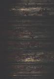 Donkere Natuurlijke oude vuile houten muur De zwarte houten muur van Grunge Royalty-vrije Stock Afbeelding