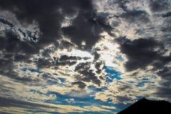 Donkere onweerswolken Royalty-vrije Stock Afbeelding