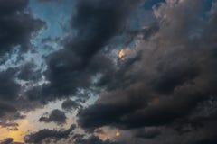 Donkere Onweerswolken - Cumulonimbus royalty-vrije stock fotografie