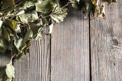 Donkere Oude Houten Textuur of Als achtergrond Hoogste Mening Stock Fotografie