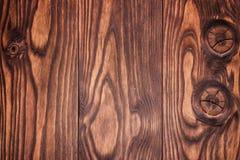 Donkere oude houten van de lijsttextuur hoogste mening als achtergrond Stock Afbeelding