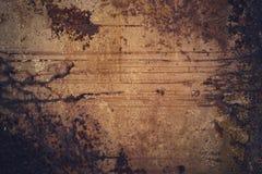 Donkere Oude roestige de textuurachtergrond van het grungemetaal met exemplaarruimte Royalty-vrije Stock Fotografie