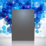 Donkere paginalay-out voor Uw bedrijfspresentatie, blauwe achtergrond. Royalty-vrije Stock Foto