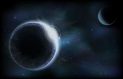 Donkere planeten Stock Fotografie