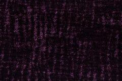 Donkere purpere achtergrond van een zacht textielproduct het in de schede steken van stof met natuurlijke textuur Stock Foto