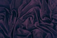 Donkere purpere linnentextuur Stock Afbeeldingen