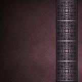Donkere purpere perkamentachtergrond met grens Royalty-vrije Stock Afbeelding