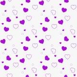 Donkere Purpere, Roze vector naadloze lay-out met liefjes Schitter abstracte illustratie met kleurrijke harten in romantische sti stock illustratie