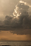 Donkere regenwolken Stock Fotografie