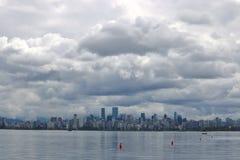 Donkere Regenwolken over Vancouver Royalty-vrije Stock Afbeeldingen