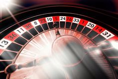 Donkere roulette Royalty-vrije Stock Afbeelding