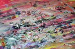 Donkere roze de verfachtergrond van de was zilveren pastelkleur op gebrande textuur Royalty-vrije Stock Afbeeldingen