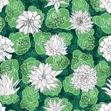 Donkere rozen of roseum succulents in een tuin-als regeling gelaagd met andere die succulents in een wit knipseldocument effect w vector illustratie