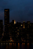 Donkere stad Royalty-vrije Stock Foto's