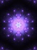 Donkere star-shaped fractal mandala Stock Afbeeldingen