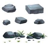 Donkere steen Vector Illustratie