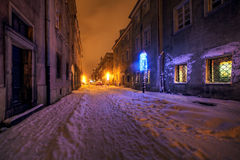 Donkere straat Stock Afbeeldingen