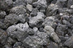 Donkere textuur van de gebrande stenen van steenkoolslakken Royalty-vrije Stock Foto's