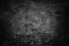 Donkere textuur van een cementmuur, zwarte stedelijke achtergrond Stock Afbeeldingen