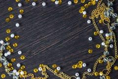 Donkere textuurachtergrond, het kader van de fonkelingendecoratie Stock Afbeeldingen