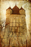Donkere toren royalty-vrije illustratie