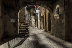 Donkere Tunnel royalty-vrije stock foto's