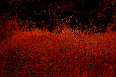 Donkere van het oud enge roestige ruwe gouden en de oppervlaktetextuur kopermetaal/achtergrond voor de spelenachtergrond van Hall Stock Afbeelding