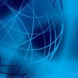 Donkere vector glanzende achtergrond met blauwe lijnen Royalty-vrije Stock Fotografie